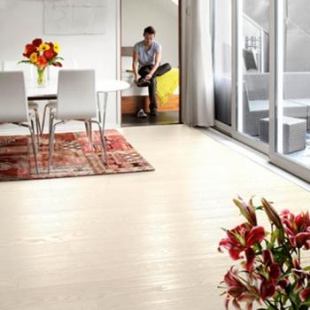 Tarkett Ash Pearl White 1 Strip Engineered Wood Flooring