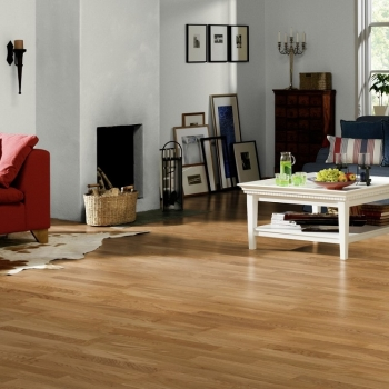 Tarkett Pure Oak Select 3 Strip Engineered Wood Flooring
