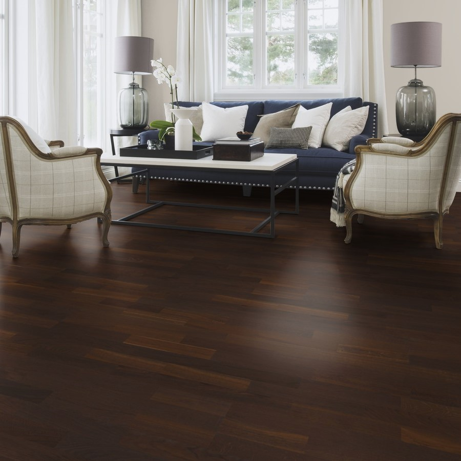 Boen Oak Smoked 3 Strip Satin Or Matt Lacquer And Oiled