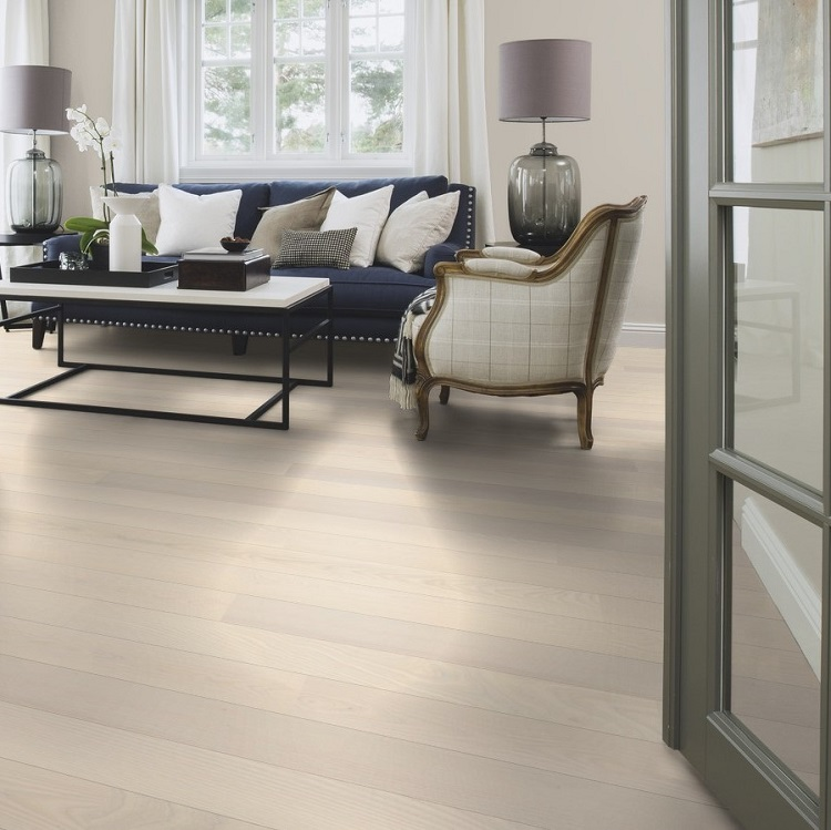 Very Boen Ash White Andante Live Pure 138mm Engineered Wood Flooring  NN74