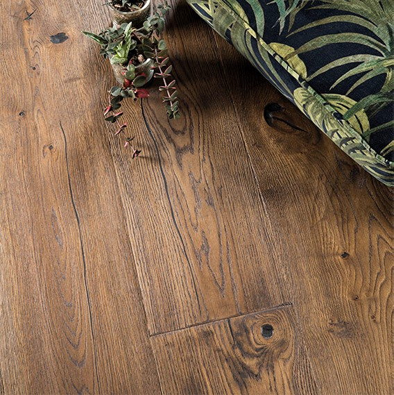 Boen Chaletino Oak Antique Brown Handcrafted Engineered