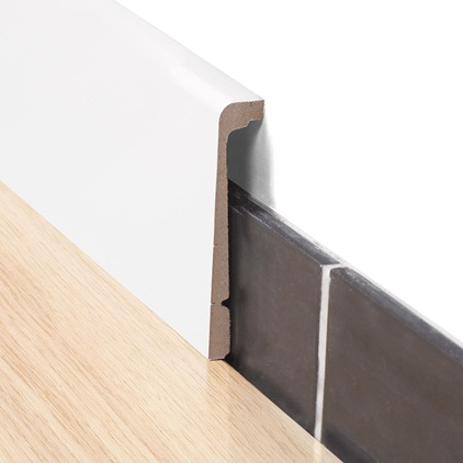quick step paintable cover skirting board save more at hamiltons when. Black Bedroom Furniture Sets. Home Design Ideas