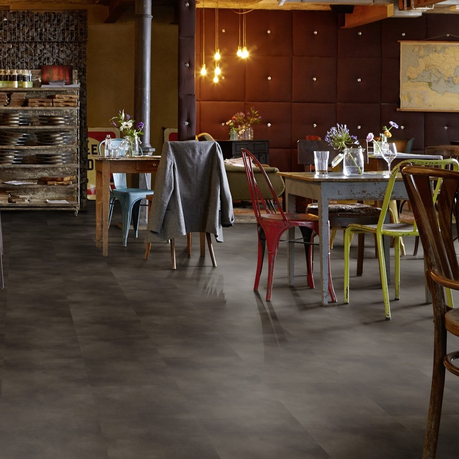 Tarkett ID Inspiration Loose Lay Beton Black Vinyl Tile Flooring