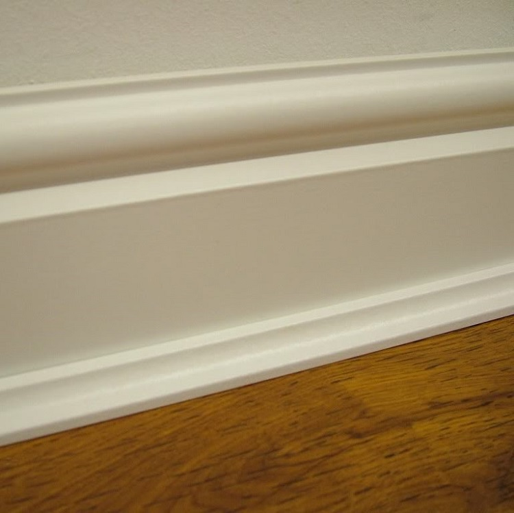 Woodland Solid Pine White Base Coated Scotia Trim