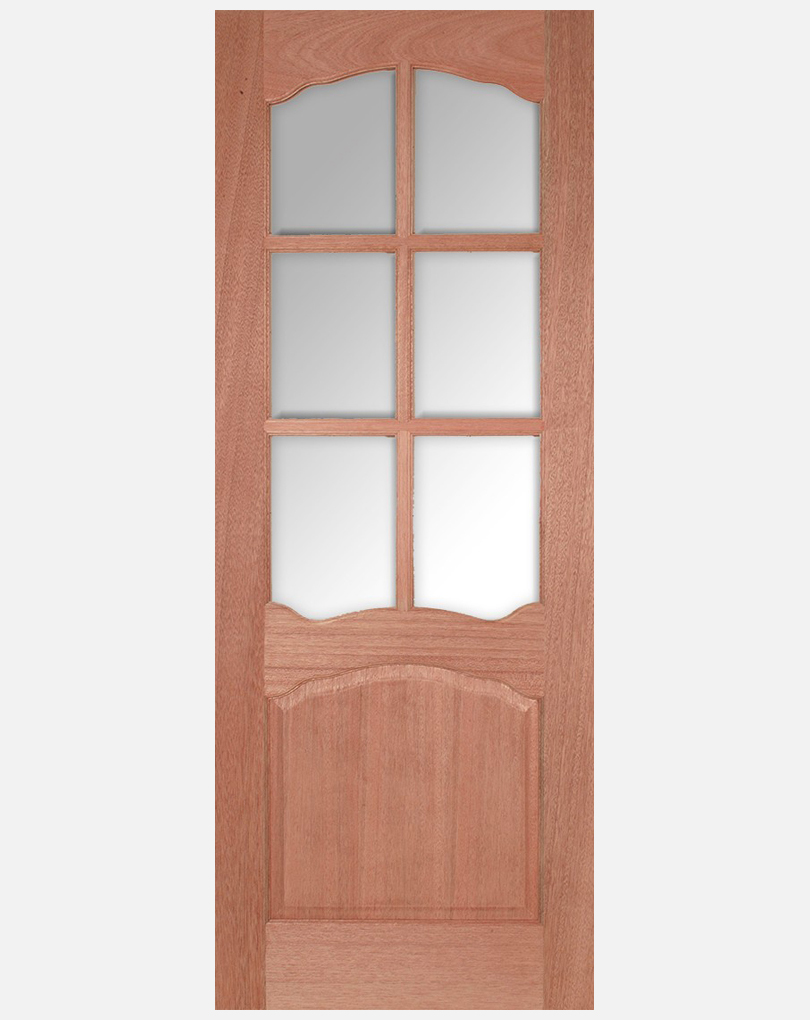 Lpd Hardwood Louis Panel And Riviera Clear Bevelled Glass Doors