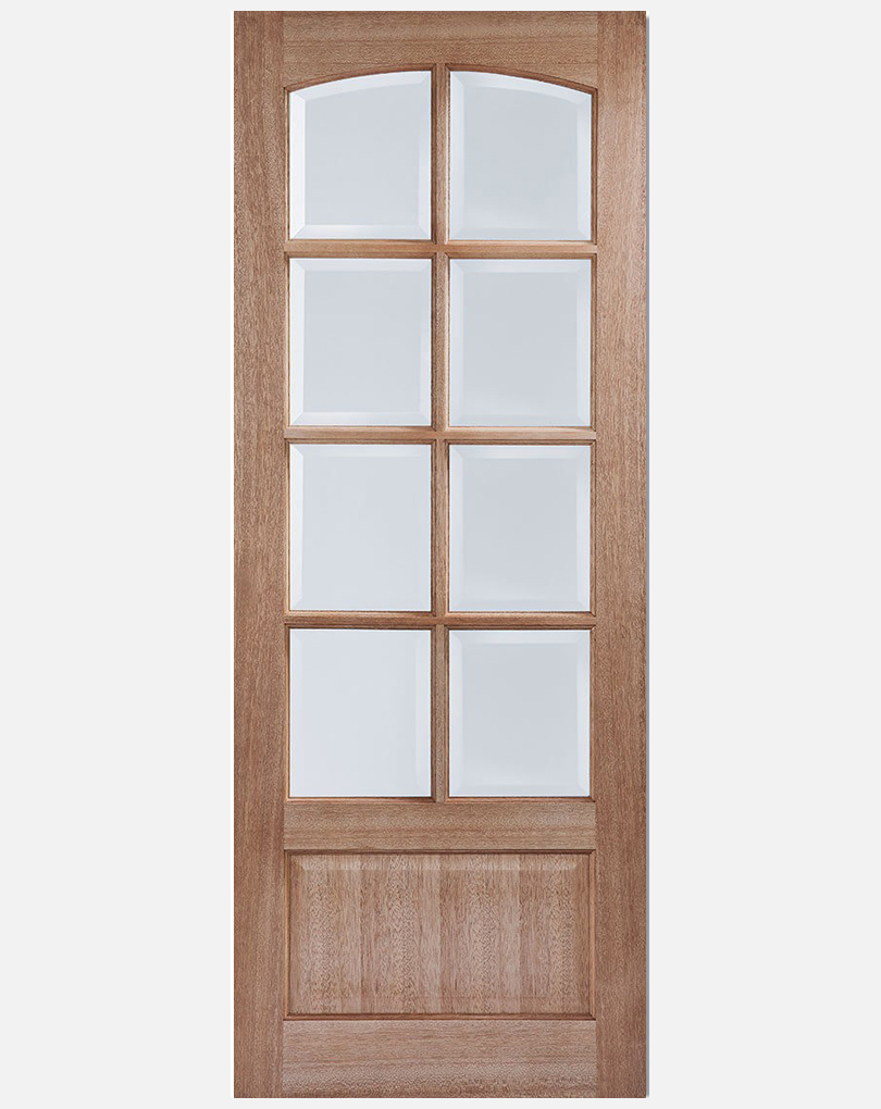 Lpd Worthing Panel And 8 Pane Clear Bevel Glass Doors Save More At