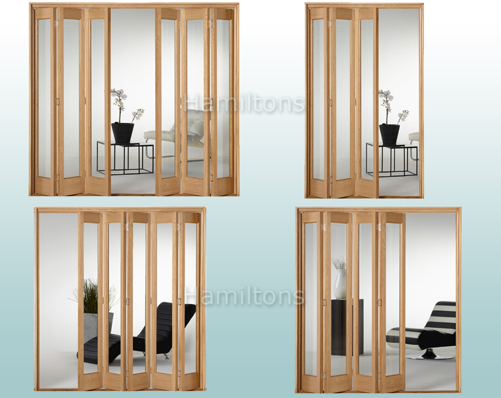 Slimfold Oak Marston Clear Glass 3 4 5 And 6 Folding
