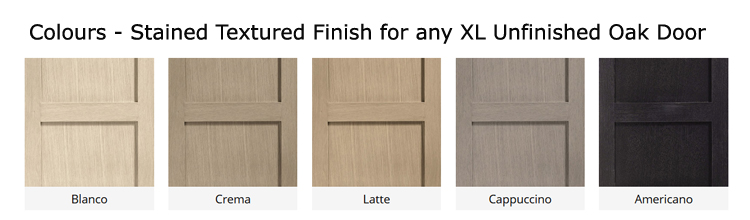 XL Colours Stained Textured for any unfinished oak door