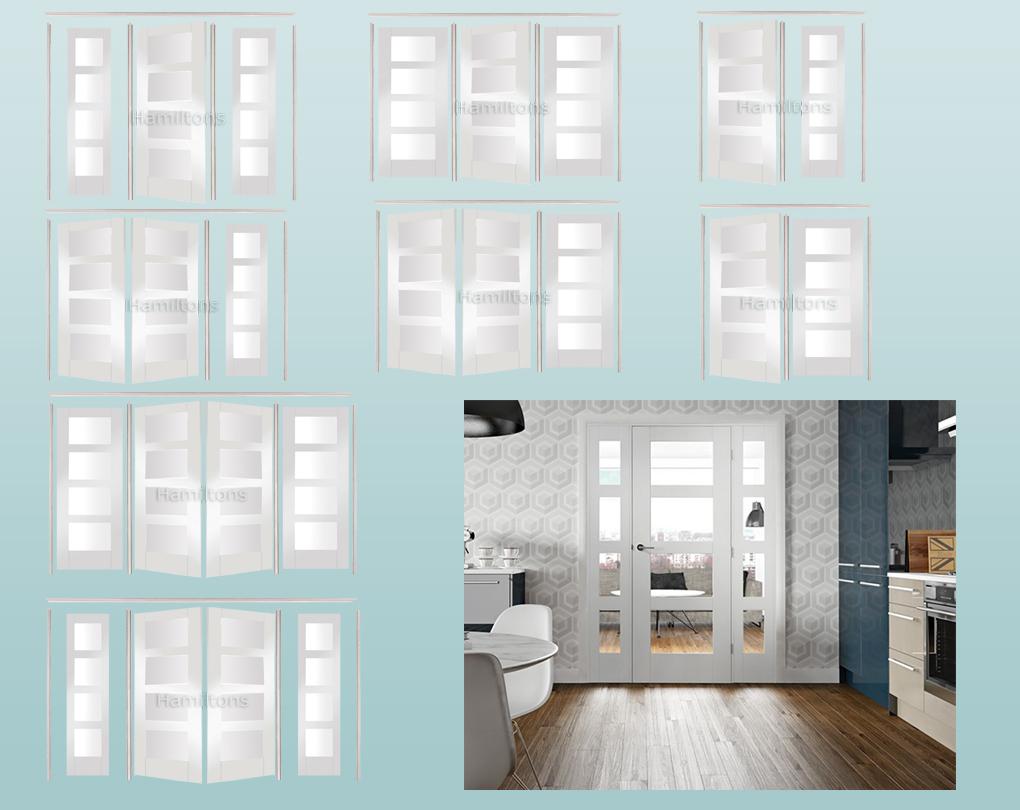 Xl Joinery Easi Frame Room Divider White Shaker 4 Light Clear Glass Hamiltons Doors And Floors